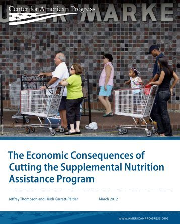 The Economic Consequences of Cutting the Supplemental Nutrition ...