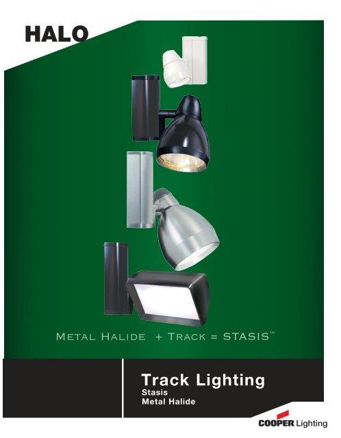 Halo Track Lighting Stasis Metal Halide Cooper Industries