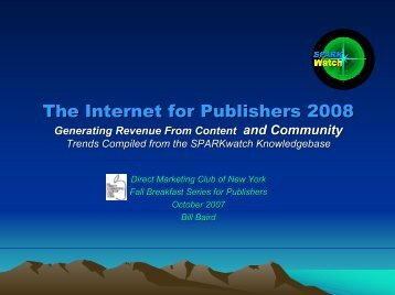 The Internet for Publishers - Direct Marketing Club of NY