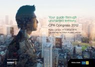 Your guide through uncharted territory. CPA Congress 2012