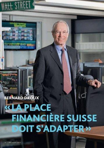 la place financière suisse doit s'adapter - Genève Place Financière