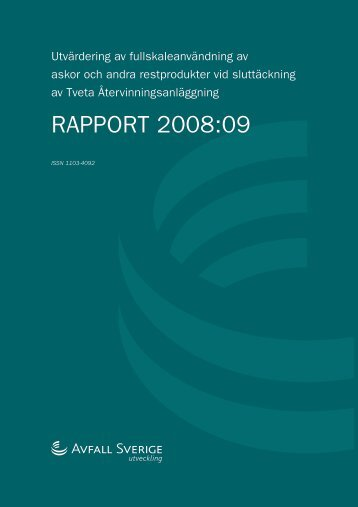 RAPPORT 2008:09 - Avfall Sverige
