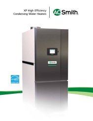 XP High Efficiency Condensing Boilers and Water Heaters