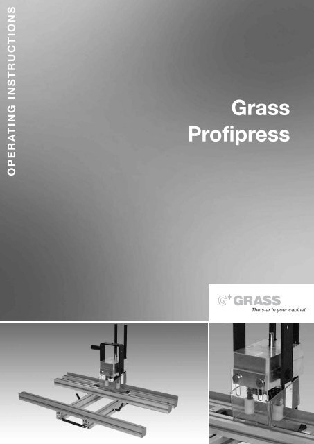 7. operating the profipress - Grass
