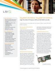 LSI MegaRAID SAS 9280-8e/MegaRAID SAS ... - Epecom Graphics