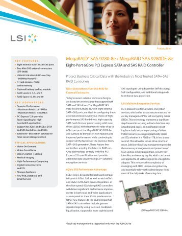 LSI MegaRAID SAS 9280-8e/MegaRAID SAS ... - Epecom Graphics