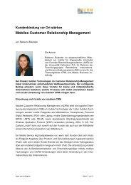 Mobiles Customer Relationship Management - CRM Erfolg
