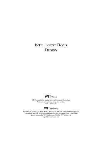 to view Title and Contents pages - WIT Press
