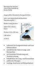 • Lehrbuch für Fortgeschrittene und zum Selbststudium ...