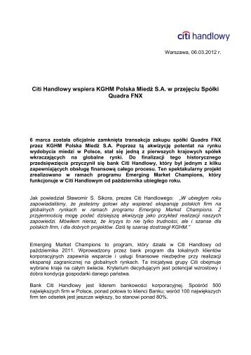 Wersja PDF (174 kB) - Citibank Handlowy
