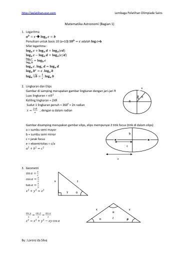 Matematika Astronomi (Bagian 1)