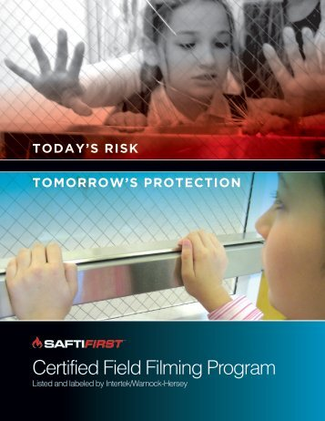 Certified Field Filming Program - Safti First