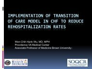 implementation of transition of care model in chf to reduce ... - QUERI