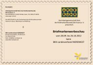 Briefmarkenwerbeschau - BKK-Landesverband NORDWEST