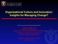 Organizational Culture - AcademyHealth