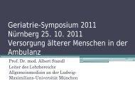 Prof. Dr. Albert Standl - MDK Bayern