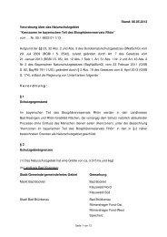 ENTWURF der Verordnung über das Naturschutzgebiet Kernzonen ...