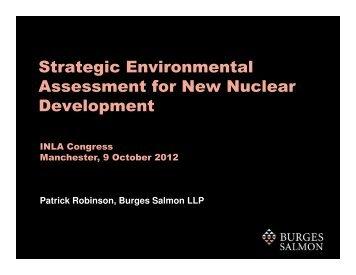 Strategic Environmental Assessment for New ... - Burges Salmon
