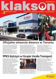 LUDZIE: Gra¿yna Piotrowicz - Veolia Transport