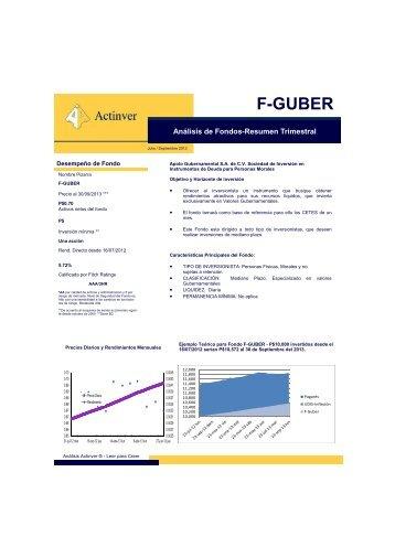 Análisis de Fondos-Resumen Trimestral F-GUBER - Actinver