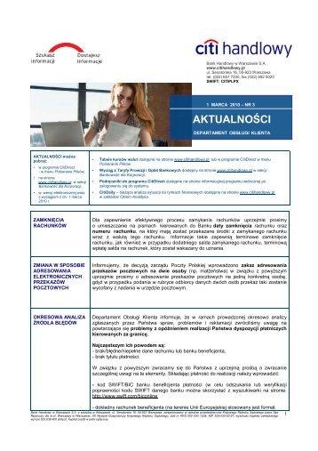 Wersja polska - Aktualności nr 3 (PDF, 205 KB) - Citibank Handlowy
