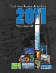 Southwest Research Institute 2011 annual report