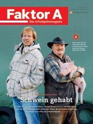 Schwein gehabt - Faktor A - Bundesagentur für Arbeit