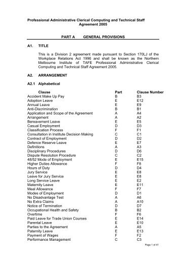 Conditions Of Employment For Staff In The Professional Category - Imo