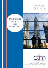Annual Report 2009 - Chartered Tax Institute of Malaysia