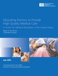 Educating Doctors to Provide High Quality Medical Care - AAMC's ...