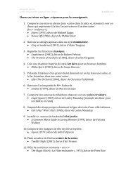 Chasse au trésor en ligne : réponses pour les ... - ArtsAlive.ca