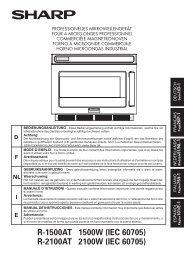 R-1500AT/2100AT Operation-Manual DE FR NL IT ES - Sharp