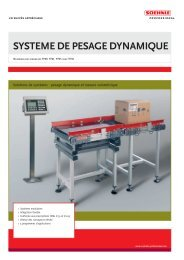 SYSTEME DE PESAGE DYNAMIQUE - Soehnle Professional