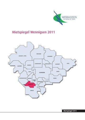 Mietspiegel Wennigsen.indd - Pro Wohnen Hamburg