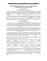 INDICE DEL DIARIO OFICIAL DE LA FEDERACION TOMO ... - 1