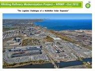 Whiting Refinery Modernization Project - Indiana Logistics
