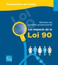 Révision du système professionnel - Les impacts de la Loi 90 - FiQ