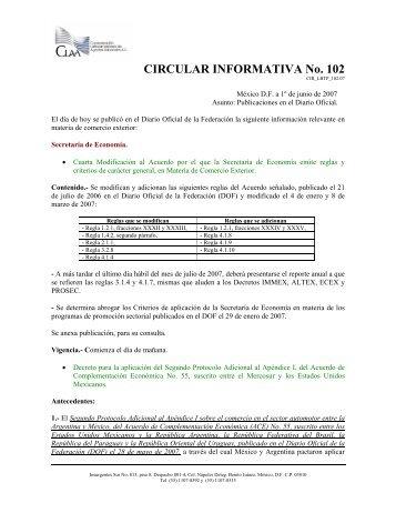 Publicaciones en el Diario Oficial
