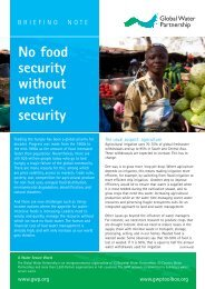 No food security without water security - Global Water Partnership