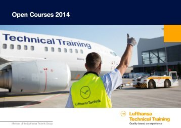 Open Courses 2014, Lufthansa Technical Training, as of 30 October ...