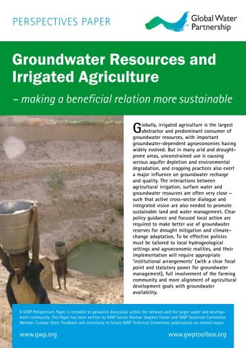Groundwater Resources and Irrigated Agriculture - Global Water ...