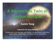 A Mysterious Twin of Epsilon Aurigae - Caltech