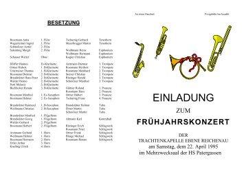 Einladung 1995