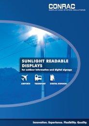 SUNLIGHT READABLE DISPLAYS - CONRAC GmbH