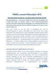 ENGEL erwartet Rekordjahr 2012 - Engel Austria