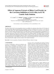 Effect of Aqueous Extracts of Bitter Leaf Powder on the Corrosion ...