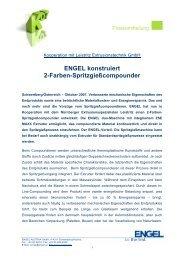 ENGEL konstruiert 2-Farben-Spritzgießcompounder - Engel Austria