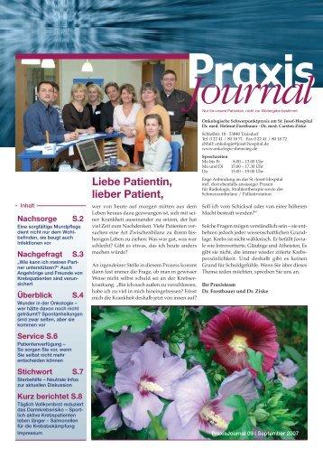 Ausgabe 9 / 2007 - Hämatologisch-Onkologische Schwerpunktpraxis