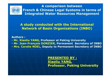 A comparison between French & Chinese Legal Systems in ... - INBO