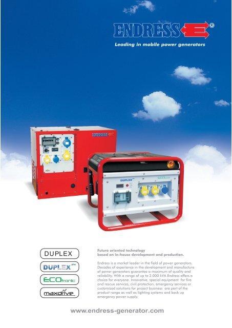 Endress Generators Brochure (PDF) - Rescue-tools co uk